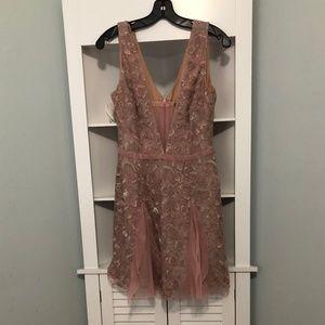 NWOT BCBG Max Azria Rose Pink Floral Dress, Size 4